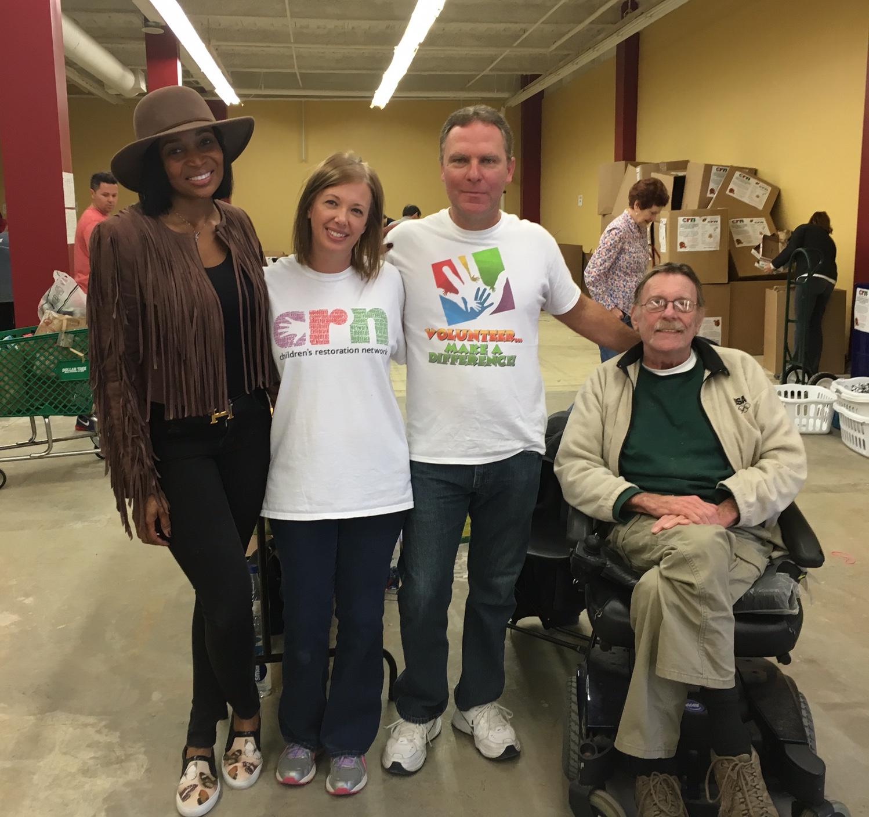 Marlo Hampton volunteering at CRN